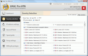 Country Selection 300x193 HideMyAss VPN Client Software