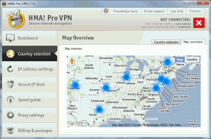 Country Selection Map 300x198 HideMyAss VPN Client Software