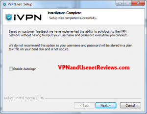 Install AutoLogin 300x233 iVPN.net In Depth Review & Speed Test