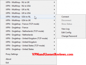 OpenVPN GUI Server Select 2 300x227 iVPN.net In Depth Review & Speed Test