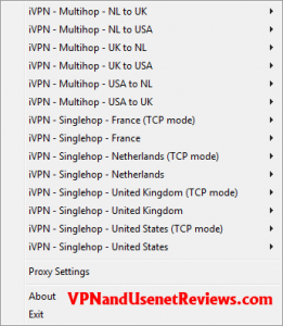 OpenVPN GUI Server Select 261x300 iVPN.net In Depth Review & Speed Test