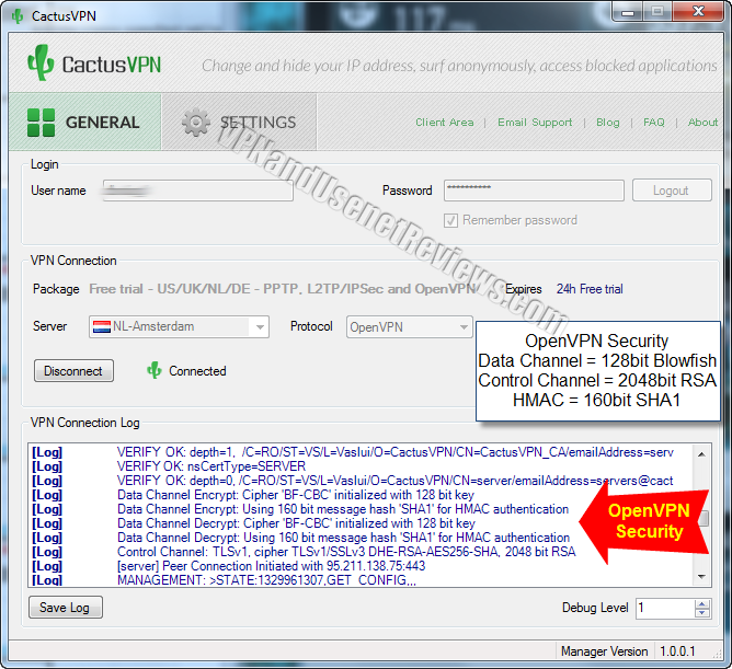 cactusvpn windows client openvpn security settings CactusVPN In Depth VPN Review and Full Speed Test!