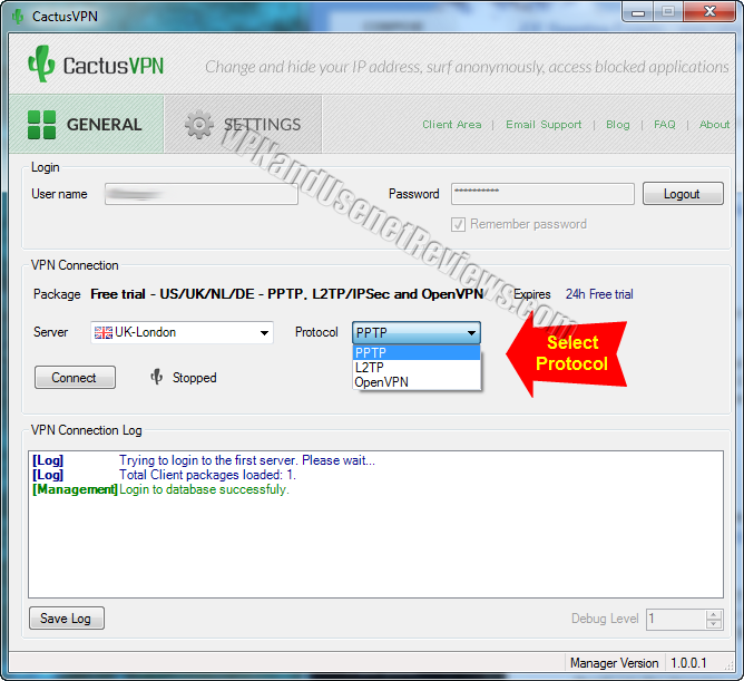 cactusvpn windows client protocol selection CactusVPN In Depth VPN Review and Full Speed Test!