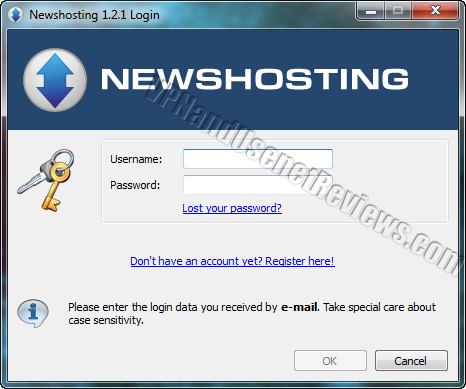 newshosting newsreader login