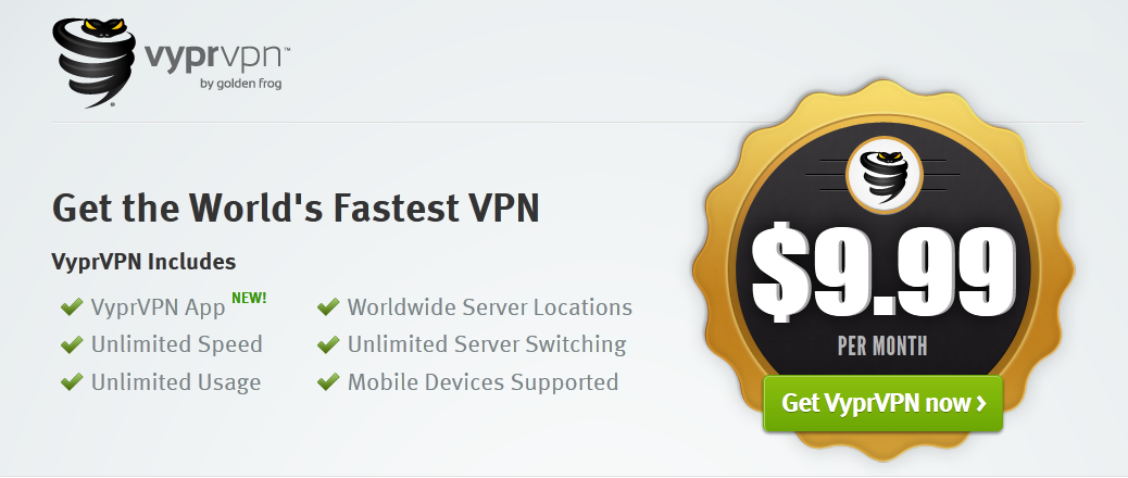Unlimited VPN only $9.99!