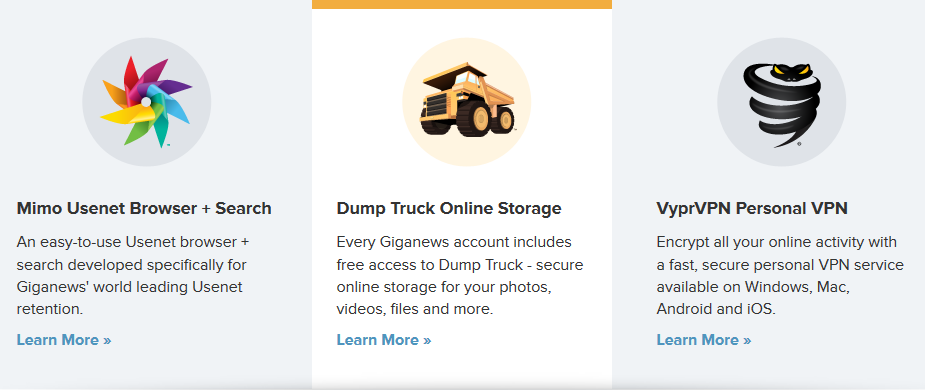 Dump Truck with Giganews Everything