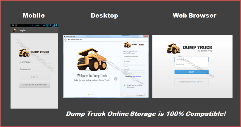 DumpTruck Works with Everything
