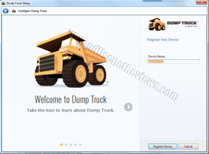 DumpTruck for Windows Device Register